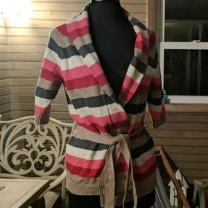 Aeropostale Sweater wrap multi colored strip